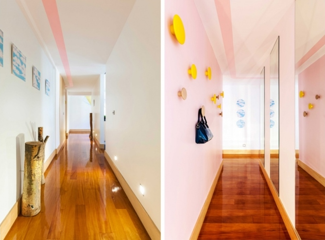 9 lisbon story apartment, colorful and white interior, interior design, projektowanie wnetrz, kolorowe mieszkanie, Francisco Plácido