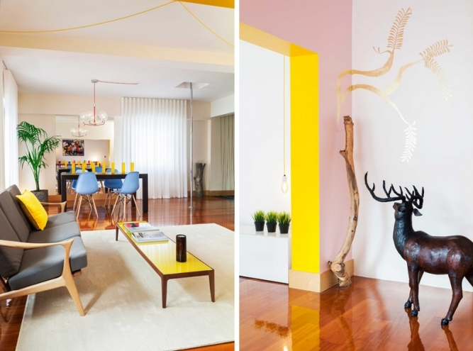 6 lisbon story apartment, colorful and white interior, interior design, projektowanie wnetrz, kolorowe mieszkanie, Francisco Plácido