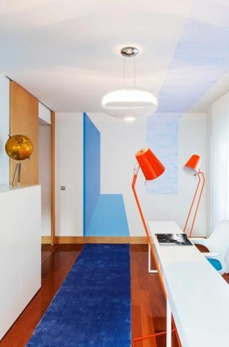 2 lisbon story apartment, colorful and white interior, interior design, projektowanie wnetrz, kolorowe mieszkanie, Francisco Plácido