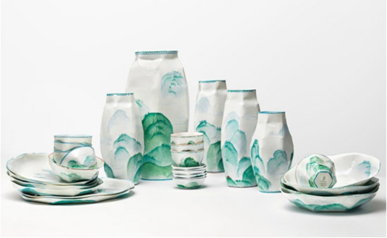 2 Nymphenburg Lightscape ruth gurvich ceramics, porcelain design porcelana ceramika niemcy