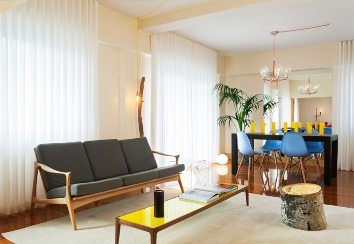 1 lisbon story apartment, colorful and white interior, interior design, projektowanie wnetrz, kolorowe mieszkanie, Francisco Plácido