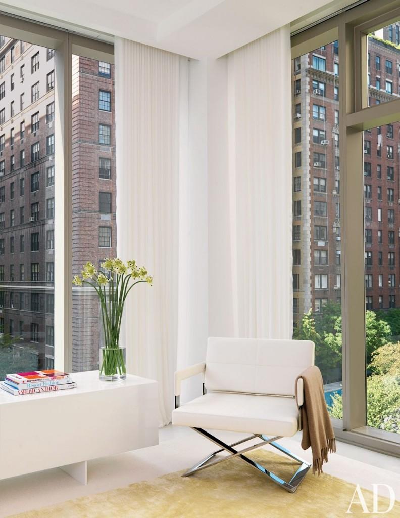 new york manhattan bedroom with a view  architectural digest interior design