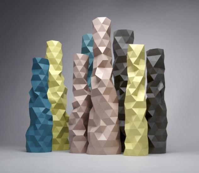 4 Vases phil cuttance ceramics, porcelain design porcelana ceramika nowa zelandia wazon