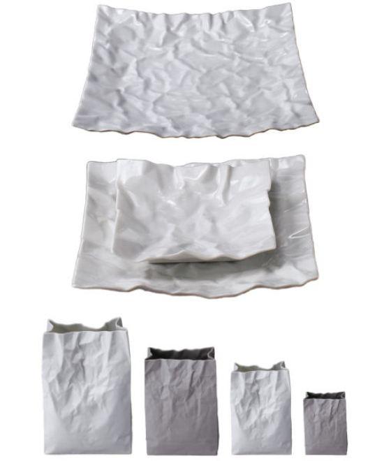 5 Makoto comatsu Crumpled Crinkle ceramics porcelain design japan